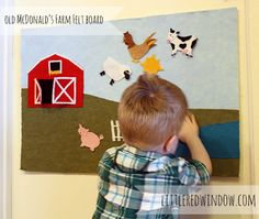Old McDonald's Farm Felt Board--cute and easy project you can do at home! - Little Red Window