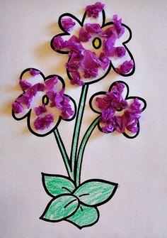 Tissue Paper Flowers Spring Craft