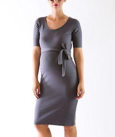 Look what I found on #zulily! Madeleine Gray Maternity Margot Dress #zulilyfinds