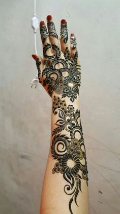 Khafif Mehndi Design, Floral Henna Designs, Henna Art Designs, Mehndi Design Pictures, Dulhan Mehndi Designs, Mehndi Images, Mehndi Art, Henna Mehndi, Khafif Designs