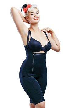 Shapewear Compression Garments, Post Surgical Garments Long Black