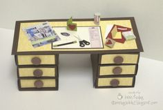 Miniature Desks Tutorial For Sale! :: Confessions of a Stamping Addict