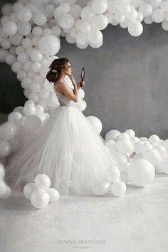 Photo from: busovaphoto Balloon Backdrop, Flower Backdrop, Balloon Decorations, Wedding Decorations, Balloons Galore, Big Balloons, Wedding Balloons, Celebration Balloons, Dream Wedding