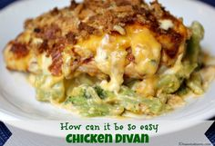 This Easy Chicken Divan takes the classic recipe, but cuts the prep time in half @10minutedinners.com