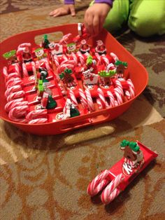 Mini candy sleighs for classroom stocking stuffers.