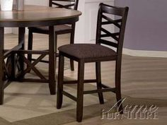 ACME 16806 Set of 2 Olivia Counter Height Chair, Espresso Finish