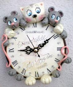 """clock cold porcelain """"inspiration"""""""