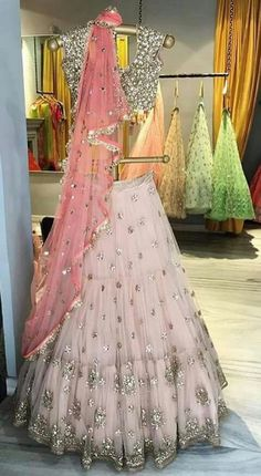 Lengha pink #indianfashion,