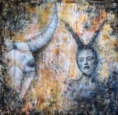 """Wild Love"", mixed media painting, by Kelly Thiel"