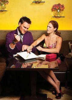 Owain Yeoman and Amanda Righetti from the CBS series The Mentalist