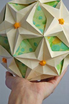 Kusudama Sea Stars. Origami