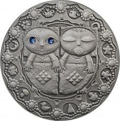 Srebrna Moneta - Bliźnięta, 20 rubli, Seria: Znaki zodiaku