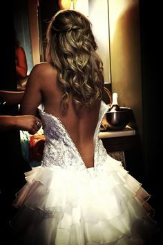 Every women needs a sexy photo before walking down the Aisle...this is the least sexiest that I can share with anyone other then my husband! Love it!! #Bride #Sexy #Boudoir #Hair #Fit #Wedding #Back
