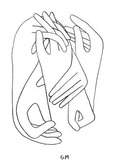 Geoff McFetridge drawing of hands intertwined Art And Illustration, Illustration Inspiration, Illustrations Posters, Poster Drawing, Art Graphique, Grafik Design, Line Drawing, Art Inspo, Line Art