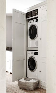 """Outstanding """"laundry room storage diy shelves"""" information is offered on our website. Have a look and you wont be sorry you did. Small Utility Room, Utility Room Designs, Small Laundry, Hidden Laundry, Laundry Room Organization, Laundry Room Design, Laundry Rooms, Laundry Decor, Basement Laundry"""