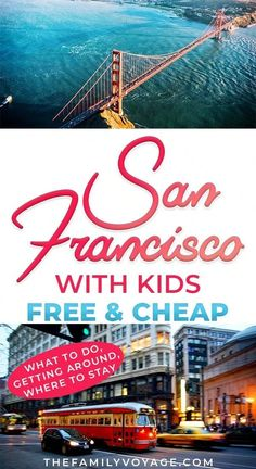 Check out all the best free things to do in San Francisco - and a few cheap ones too. We've got kid-friendly activities where to eat in San Francisco on a budget how to get around and where to stay in San Francisco. Traveling With Baby, Travel With Kids, Family Travel, California With Kids, California Travel, California Destinations, Visit California, Southern California, Canada Travel