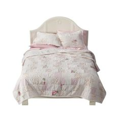 Amazon.com: Simply Shabby Chic® Patchwork Quilt - Pink (King): Bedding & Bath ($200) found on Polyvore