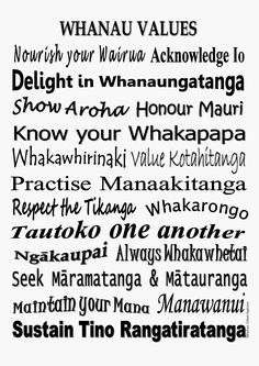 With the use of New Zealand Maori words.