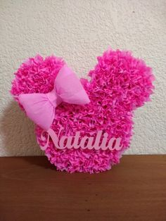 Birthday Pinata, Mickey Birthday, 1st Birthday Girls, Unicorn Birthday Parties, Minnie Mouse Pink, Minnie Mouse Party, Homemade Pinata, Minnie Mouse Birthday Decorations, Grandma Crafts