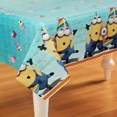 Despicable Me Party Supplies Plastic Tablecloth 54 Inches by 84 Inches Despicable Me Party, Minions Despicable Me, Minion Party, Plastic Table Covers, Plastic Tables, Plastic Tablecloth, Minion Dance, Minion Theme, Party Themes For Boys