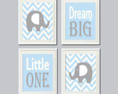 Navy Gray Wall Art Baby Boy Nursery Decor Kids Wall by vtdesigns