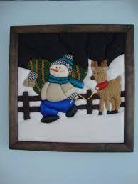 Resultado de imagen para cuadros en falso patchwork navideños Merry Little Christmas, Felt Christmas, All Things Christmas, Christmas Lights, Diy And Crafts, Christmas Crafts, Snowman Quilt, Christmas Quilt Patterns, Cute Snowman
