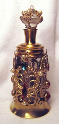 Awesome Rare Antique Jeweled Apollo Dauber Perfume Scent Bottle  Perfumaria - Tuta Platina