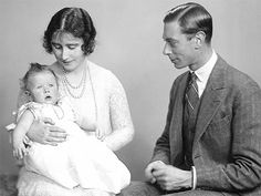 The Duke and Duchess of York with their seven-month-old daughter, Princess Elizabeth (future Queen Elizabeth II). Photographed on 2 December © The Royal Collection. Princess Elizabeth, Princess Margaret, Queen Elizabeth Ii, Margaret Rose, Princess Diana, Queen And Prince Phillip, Prince And Princess, Queen Mother, Queen Mary