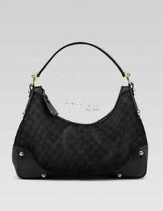 Gucci Jockey Small Hobo Handbag 211966 Black 160 Handbags Outlet Designer