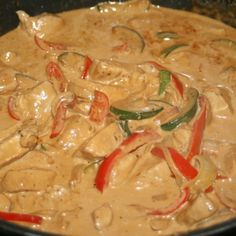 Lchf, Thai Red Curry, Love Food, Dinner Recipes, Food And Drink, Chicken, Ethnic Recipes, Dragon, Inspiration