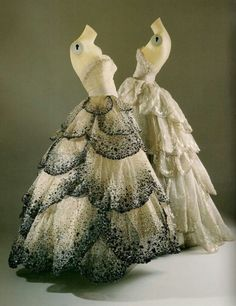 Dior vintage 50s - now we possibly know where Susan Hilferty got her inspiration for Galinda in Wicked...maybe? I'm just sayin'....