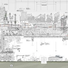 Sección transversal Very Large Structure, vista pormenorizada. VLS Cross section, zoom view.