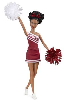 University Of Arkansas Barbie Doll (African-American) - Collectible University Barbie Dolls   Barbie Collector
