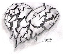 Broken Hearts With Wings Drawings - Bing images