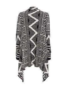 Tom Tailor Cardigan Black & White Geometric Pattern - Backside