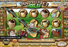Jouer avec cette épatante machine à sous 20 lignes Moonshiner's Moolah, et gagner le Jackpot !  http://www.casinobens.com/machines-a-sous-20-lignes-moonshiners-moolah.php