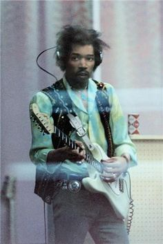 """Jimi Hendrix """"From The Other Side Of The Glass"""" at The Record Plant Studios, NYC 1968"""