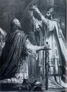 La coronación de Carlomagno.
