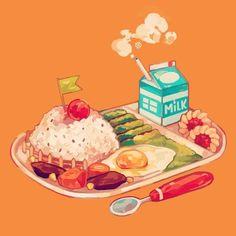 Reii ♜ on in 2019 art cute food drawings, food cartoon, food Illustration Art Nouveau, Cute Illustration, Watercolor Illustration, Coffee Draw, Chibi Kawaii, Cute Food Drawings, Pinterest Instagram, Food Sketch, Food Cartoon