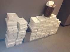 The shocking profligacy of the European bureaucracy has been exposed again after a UKIP Member of European Parliament tweeted a photograph of a mountain of iPad boxes discarded in a corridor in Brussels, which housed goods worth thousands of pounds.
