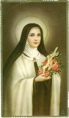 Santa Teresa del Niño Jesús. Carmelita descalza y Doctora de la Iglesia Católica. Patrona Universal de las Misiones.