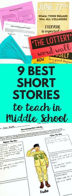 Top nine short stories to teach to and read with your middle school English language arts class They are engaging challenging and accessible to all students Definitely a. 8th Grade Ela, 6th Grade Reading, Middle School Reading, Middle School Classroom, Middle School English, Middle School Literature, English Classroom, English Teachers, Seventh Grade