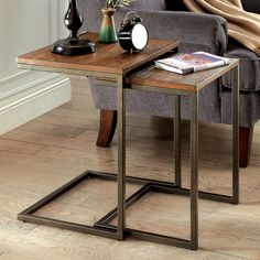 Furniture of America Dornell Industrial Style Nesting Table | Overstock.com Shopping - The Best Deals on Coffee, Sofa & End Tables
