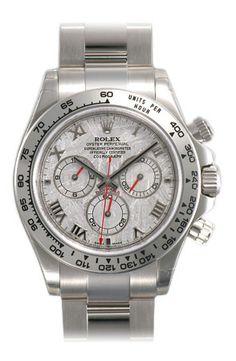 Rolex Daytona Meteorite Roman Dial Oyster Bracelet 18k White Gold Mens Watch 116509MTAO