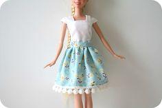 froufy barbie skirt tutorial