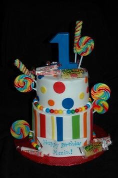 Boy Candy Cake By mom262 on CakeCentral.com