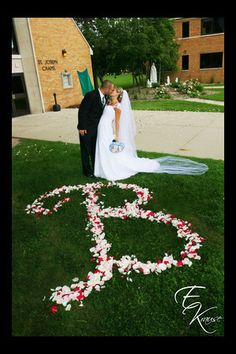 Love this picture idea. Could do just outside the big window so you could see the G during the reception