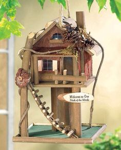 Tree house bird house