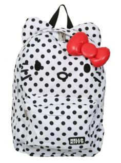 6bb35bb2711 Hello Kitty Polka Dot Bow Backpack Polka Dot Backpack, Polka Dot Bags,  Polka Dots