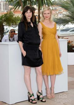 Charlotte Gainsbourg & Kirsten Dunst actress's attends the Photocall For Melancholia at the 2011 Cannes Film Festival 05-18-2011 photo by Dave gadd-allstar - Globe Photos, inc.2011